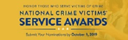 Image promoting the 2020 National Crime Victims' Service Awards nomination period