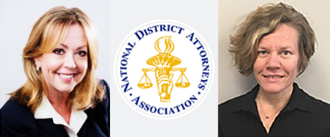 Photo of Susan Broderick, Senior Attorney and Kristi Browning, Program Director  from the National District Attorneys Association (NDAA) along with the NDAA logo.