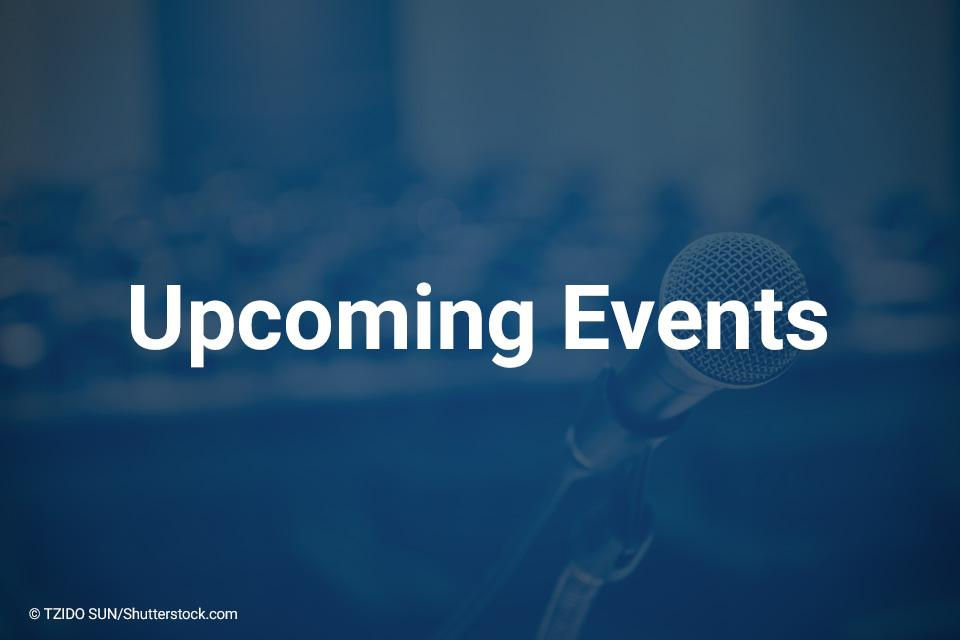 Upcoming Events © TZIDO SUN/Shutterstock.com