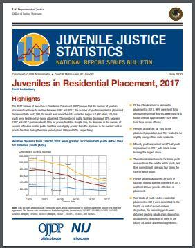 JUVJUST Juveniles in Residential Placement, 2017
