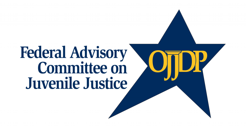 Federal Advisory Committee on Juvenile Justice logo 1200x627