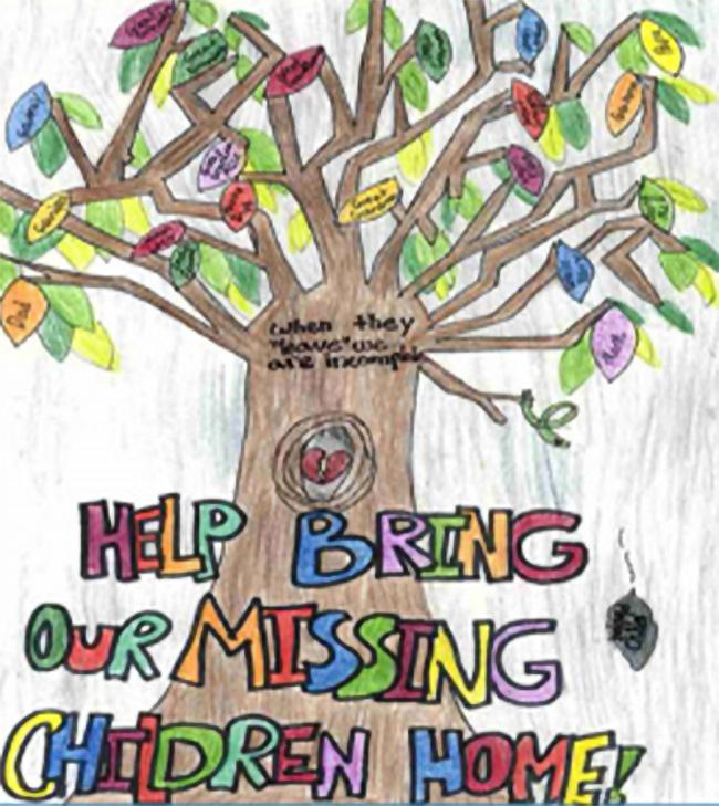 The winning entry from the 2020 National Missing Children's Day poster contest.