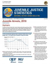 JUVJUST Juvenile Arrests, 2018