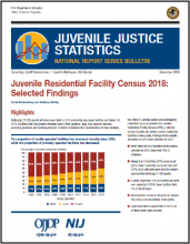 Cover of Juvenile Residential Facility Census, 2018: Selected Findings